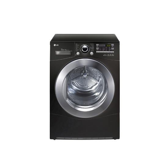 LG RC9055BP2Z Heat Pump Condenser Tumble Dryer - Black