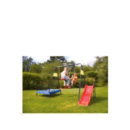 Tesco 4-in-1 Garden Playset (Swing, Slide, Glider & Trampoline) Reviews