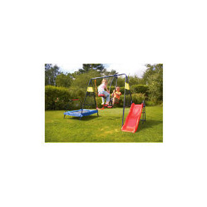 Photo of Tesco 4-In-1 Garden Playset (Swing, Slide, Glider & Trampoline) Toy