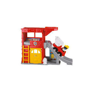 Photo of Fisher-Price World Of Little People Ramps Fire Station Toy