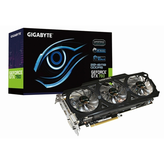 Gigabyte GTX 760 OC Windforce 2GB GV-N760OC-2GD