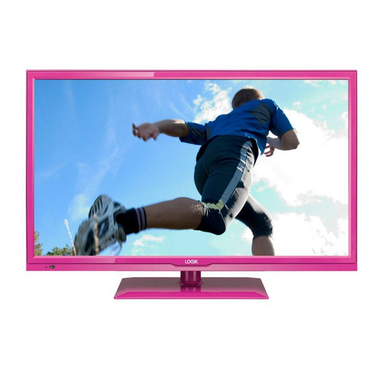 "Logik L24FEDP13 24"" LED TV with Built-in DVD Player - Pink"