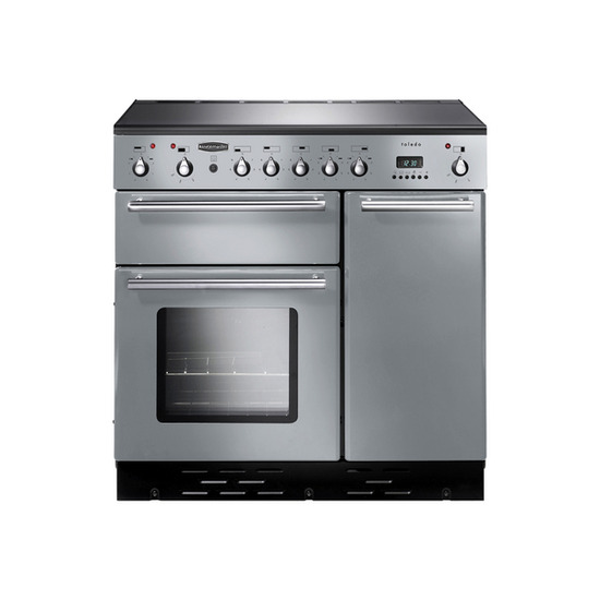 Rangemaster Toledo 90 Induction Range Cooker - Silver & Chrome