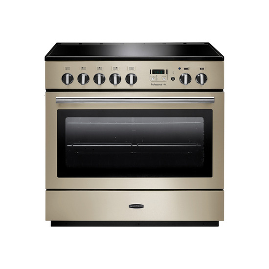 Rangemasterfessional+ 90 FX Electric Induction Range Cooker - Cream & Chrome