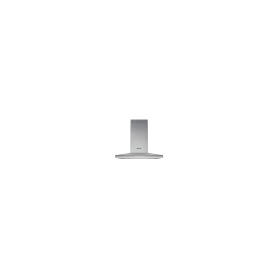 Hotpoint HHC7.7AB Chimney Cooker Hood - Stainless Steel