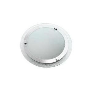 Photo of Tesco Ripple Glass Flush Bathroom Ceiling Light Lighting