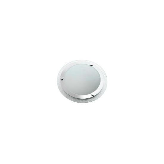 Tesco Ripple Glass Flush Bathroom Ceiling Light