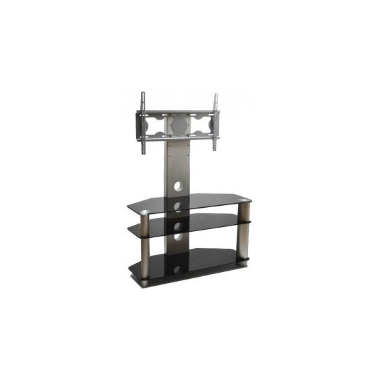 ValuFurniture Piano Black Universal TV Stand With Bracket for TVs up To 50
