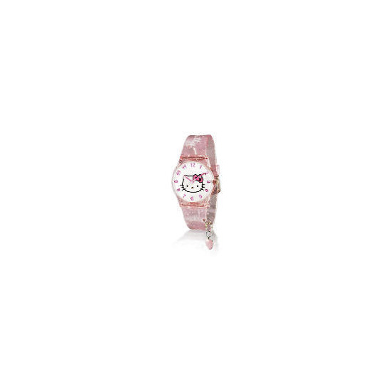 HELLO KITTY PINK GLITTER WATCH