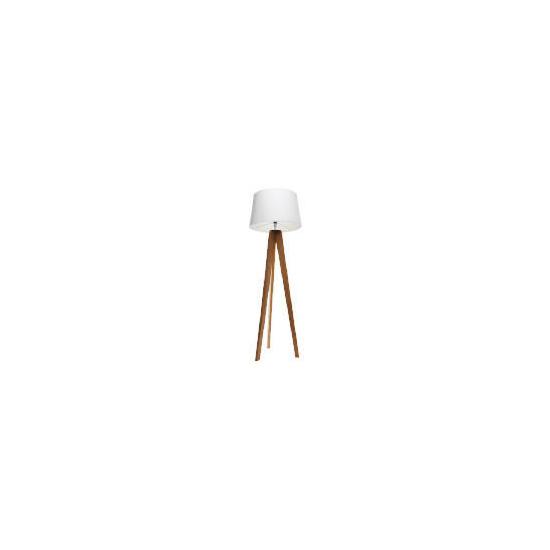 Tesco Tripod Wooden Floor Lamp