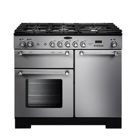 Rangemaster Kitchener 100 Dual Fuel Range Cooker - Silver & Chrome Reviews