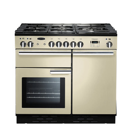 Rangemasterfessional+ 100 Dual Fuel Range Cooker - Cream & Chrome Reviews