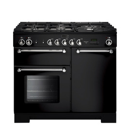 Rangemaster Kitchener 100 Dual Fuel Range Cooker - Black & Chrome Reviews