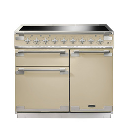 Rangemaster Elise 100 Electric Induction Range Cooker - Cream & Chrome
