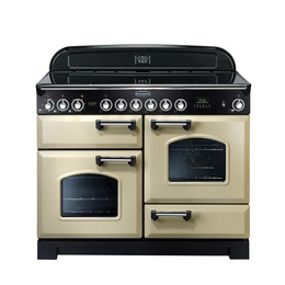 Rangemaster Classic Deluxe 110 Electric Ceramic Range Cooker - Cream & Chrome Reviews