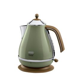DeLonghi Icona Vintage KBOV3001GR Jug Kettle - Olive Green Reviews