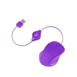 RETRAK Retrak Retractable Laser Mouse - Purple