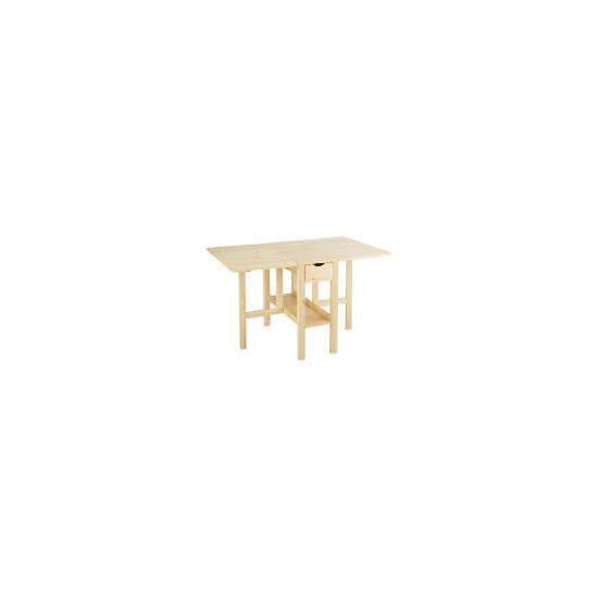 Pine gateleg dining table