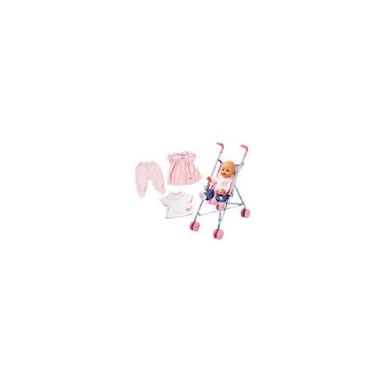 Baby Born Girl stroller set