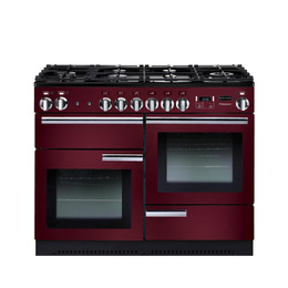 Rangemasterfessional+ 110 Gas Range Cooker - Cranberry & Chrome Reviews
