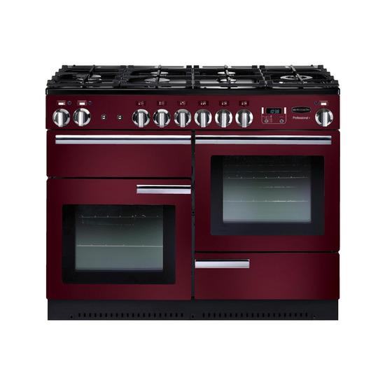 Rangemasterfessional+ 110 Gas Range Cooker - Cranberry & Chrome
