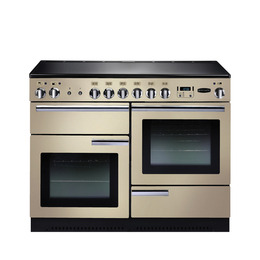 Rangemasterfessional+ 110 Electric Range Cooker - Cream & Chrome