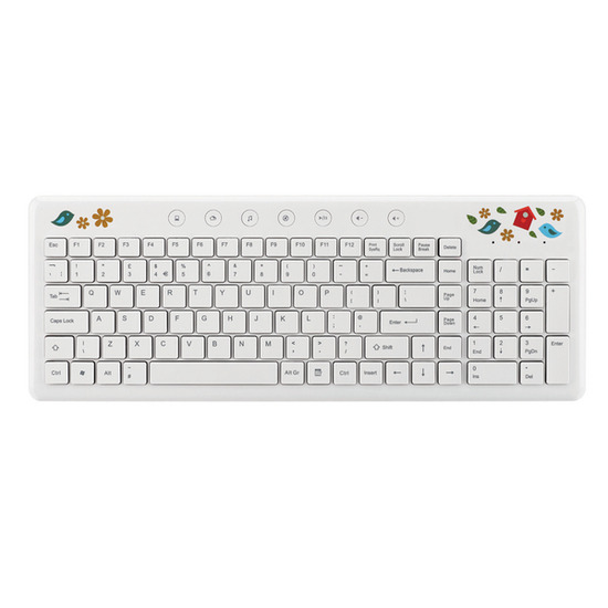 Goji GYCNKB13 Wireless Keyboard - Birdhouse