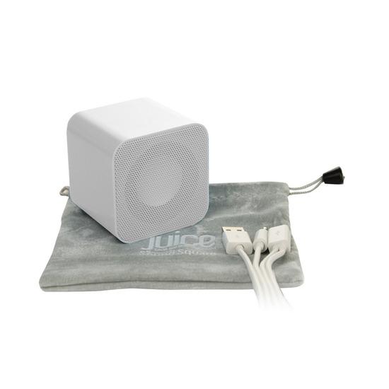 Sound Square Wireless Portable Speaker - White