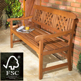 Hardwood FSC Fence Bench Reviews