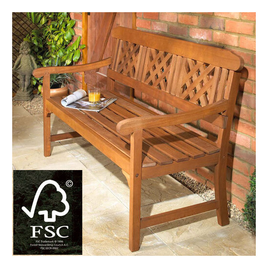 Hardwood FSC Fence Bench