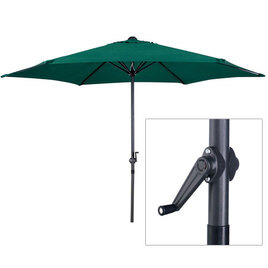 2.7m Green Canvas Parasol with Crank Handle and Steel Frame Reviews