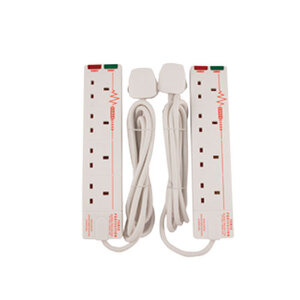 Photo of Masterplug 2M Extension Lead With Surge Protection (2 Pack) Power Supply