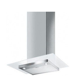 Smeg KFV62DB Chimney Cooker Hood - White Glass & Stainless Steel