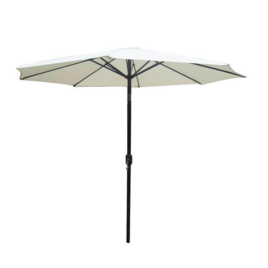 3m Cream Parasol with Crank and Tilt