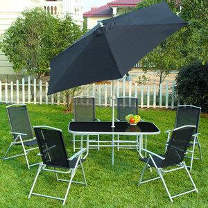 Photo of Seville 8 Piece Metal Garden Furniture Set Garden Furniture