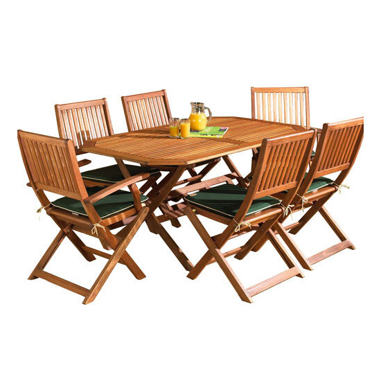 Country 150cm Hardwood Garden Furniture Set
