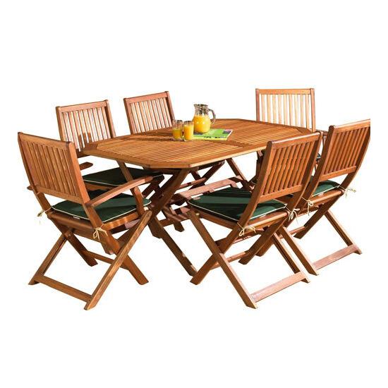 Country 150cm Hardwood Garden Furniture Set