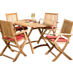 Photo of Exeter 4 Seater Teak Garden Furniture Set Garden Furniture