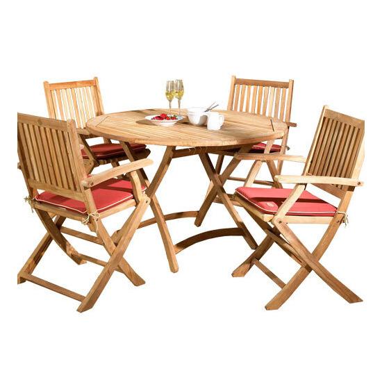 Exeter 4 Seater Teak Garden Furniture Set