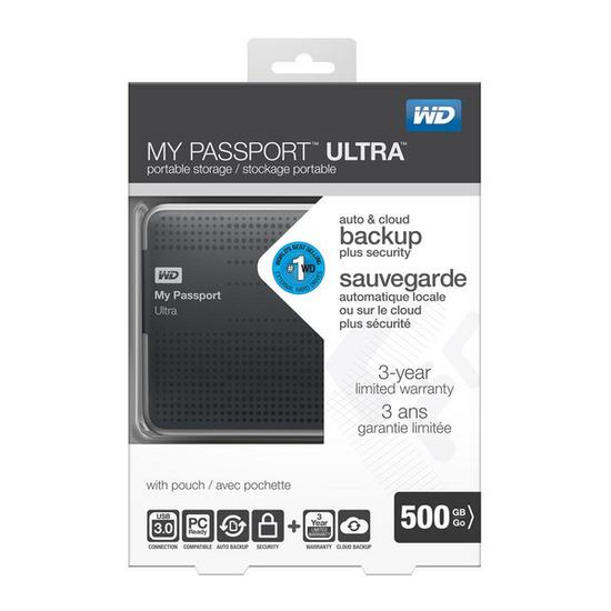 WD My Passport Ultra Slim 500GB