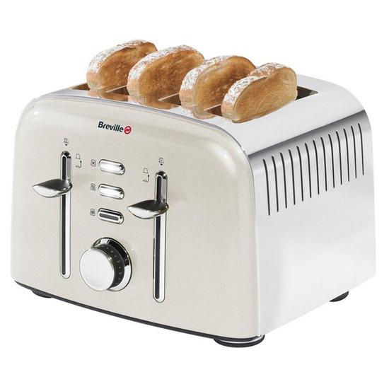 Breville Aurora VTT501 4-Slice Toaster - Cream
