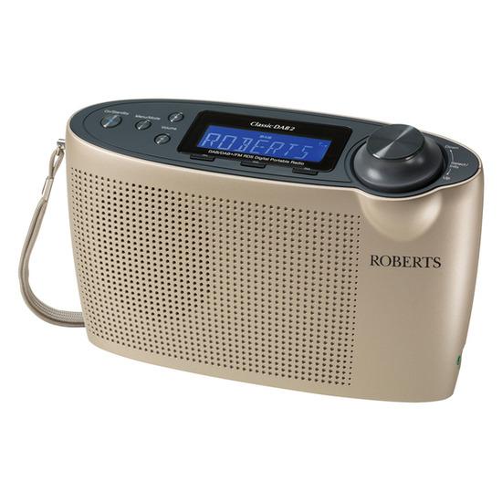 Roberts Classic Portable DAB+ Radio - Champagne