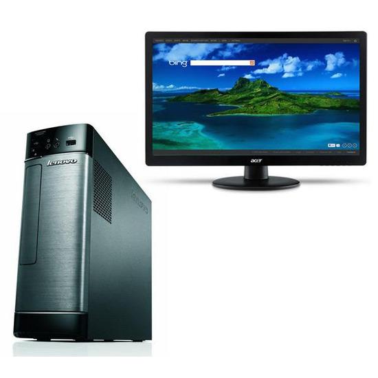 "Lenovo H520s Desktop PC with Acer S220HQLBBD Full HD 21.5"" LED Monitor"