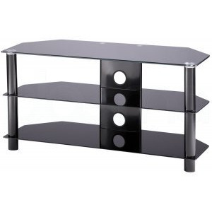 Photo of Alphason Essentials - 3 Shelf Black TV Stand For Up To 42 TV Stands and Mount