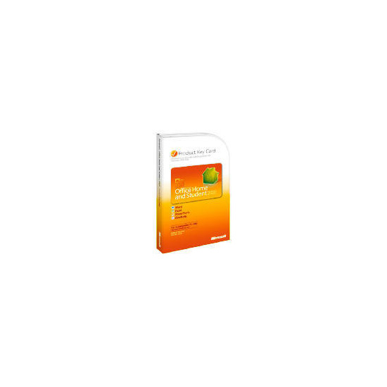 Microsoft Office 2010 Home and Student 1 User (Product Key Card)