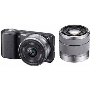 Photo of Sony Alpha NEX-3D With With 16MM and 18-55MM Lenses Digital Camera