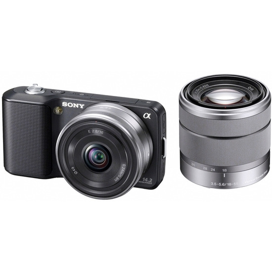 Sony Alpha NEX-3D with with 16mm and 18-55mm lenses