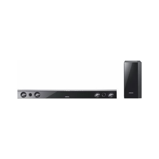 SAMSUNG HWC470 2.1 CHANNEL HOME CINEMA SPEAKER SYSTEM WITH WIRELESS SUBWOOFER AND WIRELESS IPOD DOCK