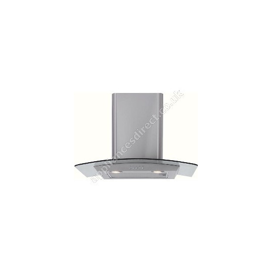 CDA Matrix Curved Glass Canopy 60cm Chimney Hood