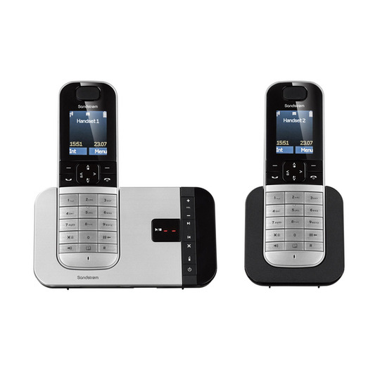 S2DTAM13 Cordless Phone with Answering Machine - Twin Handsets